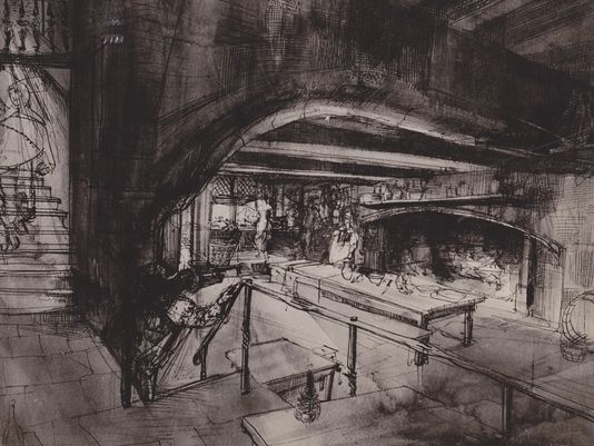 Movie set study by Welles