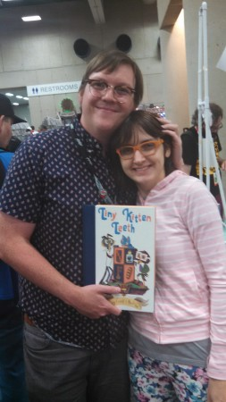 Becky Dreistadt and Frank Gibson at Comic-Con.
