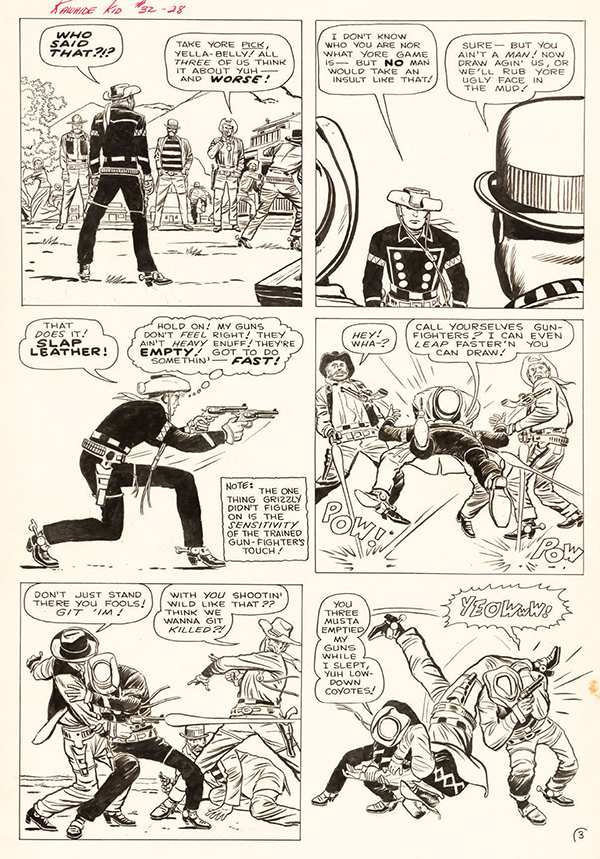 Rawhide Kid #32, 1963. Jack Kirby: pencils, Dick Ayers: inks and letters.