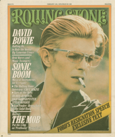 david bowie at the rolling stone