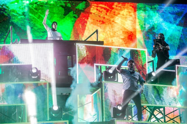 The Chainsmokers perform in the Sahara tent at Coachella, in Indio, CA, USA, on 24 April, 2016.