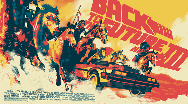'Back to the Future III' by Matt Taylor for Mondo