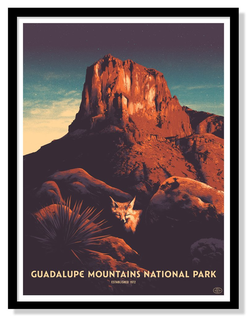 Guadalupe Mountains National Park by Matt Taylor for The Fifty-Nine Parks Print Series