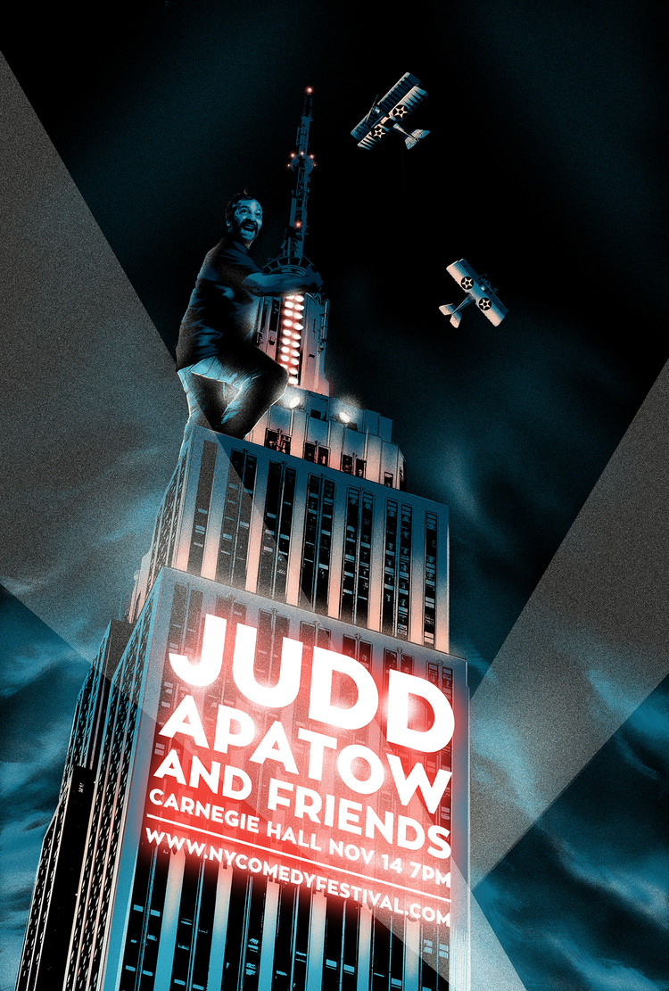 Gig poster for Judd Apatow and Friends by M att Taylor