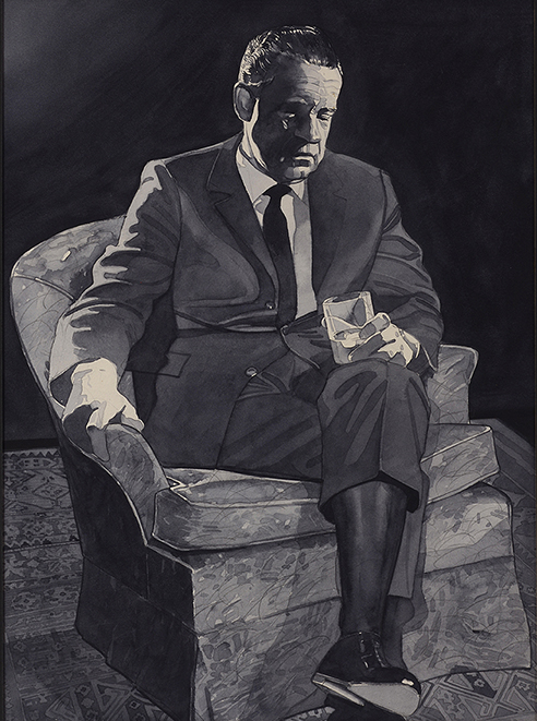 Nixon with cocktail