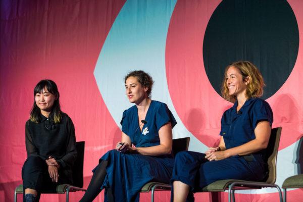 AIGA EoD 2017 panel on women in illustration: Ping Zhu, Julia Rothman, Wendy MacNaughton