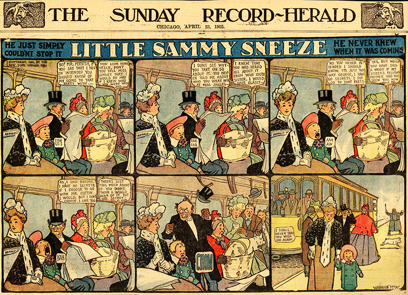 Winsor McCay, 1905. San Francisco Academy of Comic Art Collection, The Ohio State University Billy Ireland Cartoon Library & Museum