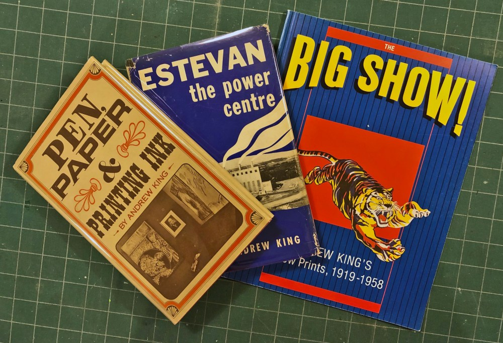 King's history of Canadian printing and publishing (1970), his book on Estevan (1967), and the 1987 catalog for the Dunlop Gallery retrospective exhibit.