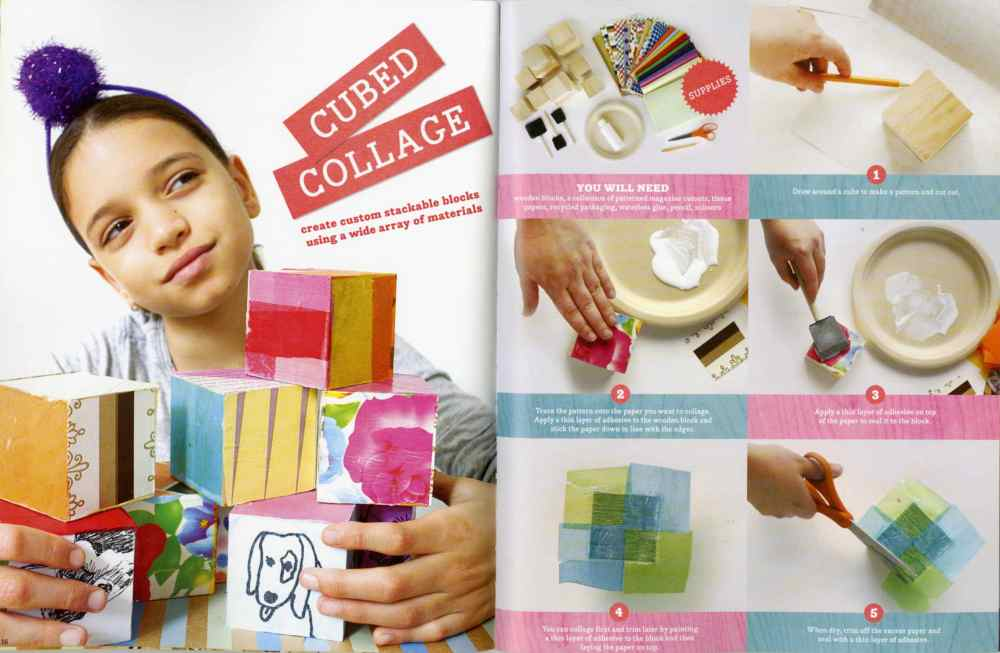 Kid Made Modern cubed collage