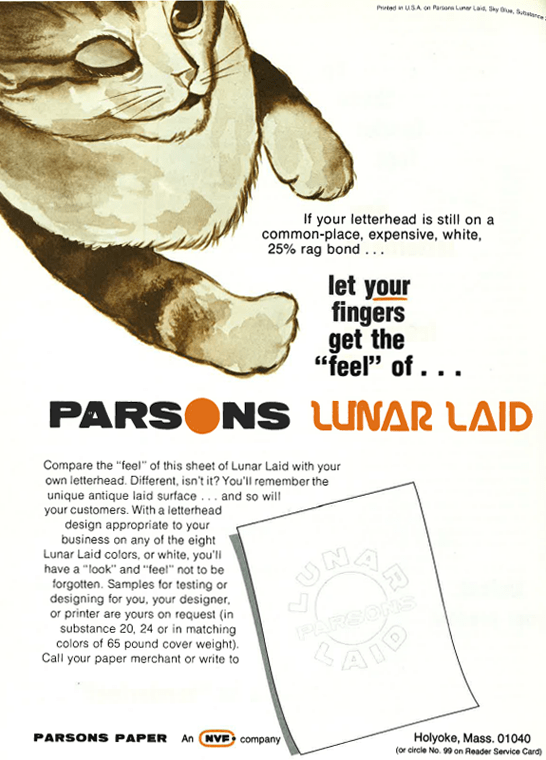 """let your fingers get the """"feel"""" of parsons lunar laid"""