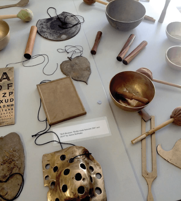 Aaron McPeake's work on display at the Blind Creation s Conference. Photo by Vanessa Warne.