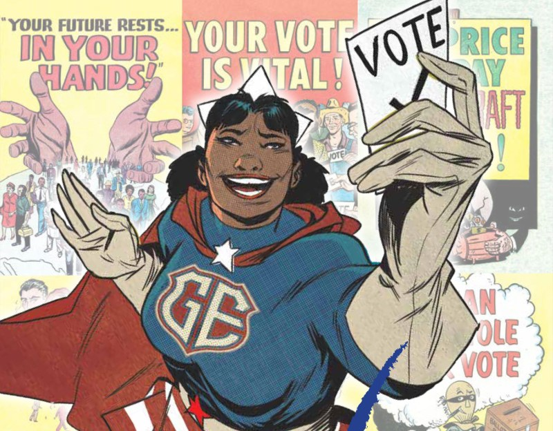 Thumbnail for The Daily Heller: Voting Comics Introduce Real Superheroes
