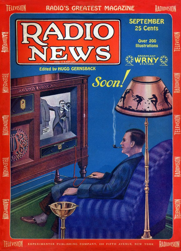 """Thumbnail for Vintage """"Radio News"""" Covers for National Radio Day"""