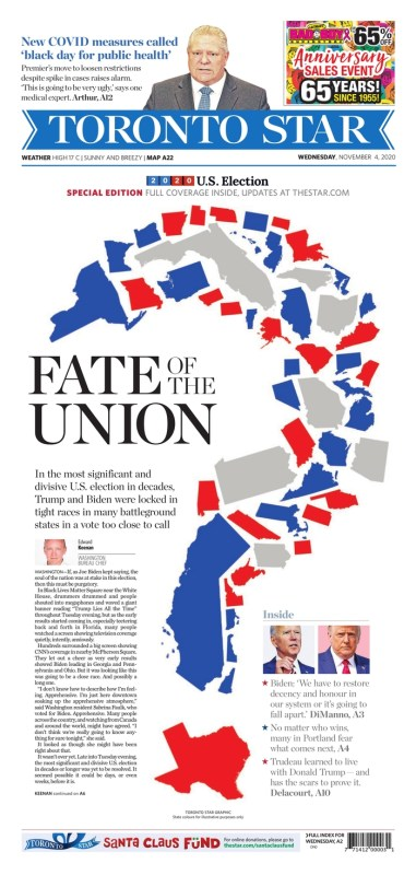 Thumbnail for The Election Results (or Lack Thereof) in Newspaper Front Pages