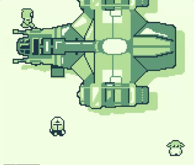 """Thumbnail for If """"The Mandalorian"""" Were a Vintage Game Boy Game …"""