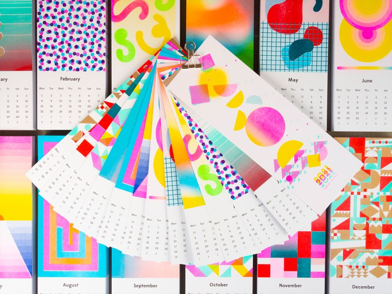 Thumbnail for 2021 Riso Wall Calendar From Studio superkolor