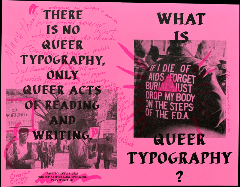 Thumbnail for A History of Queer Acts: Paul Soulellis Talks Queer Typography