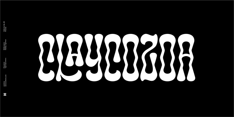 Thumbnail for Type Tuesday: Zea Fonts' Typeface Claycozoa Triggers Non-Ordinary States of Consciousness