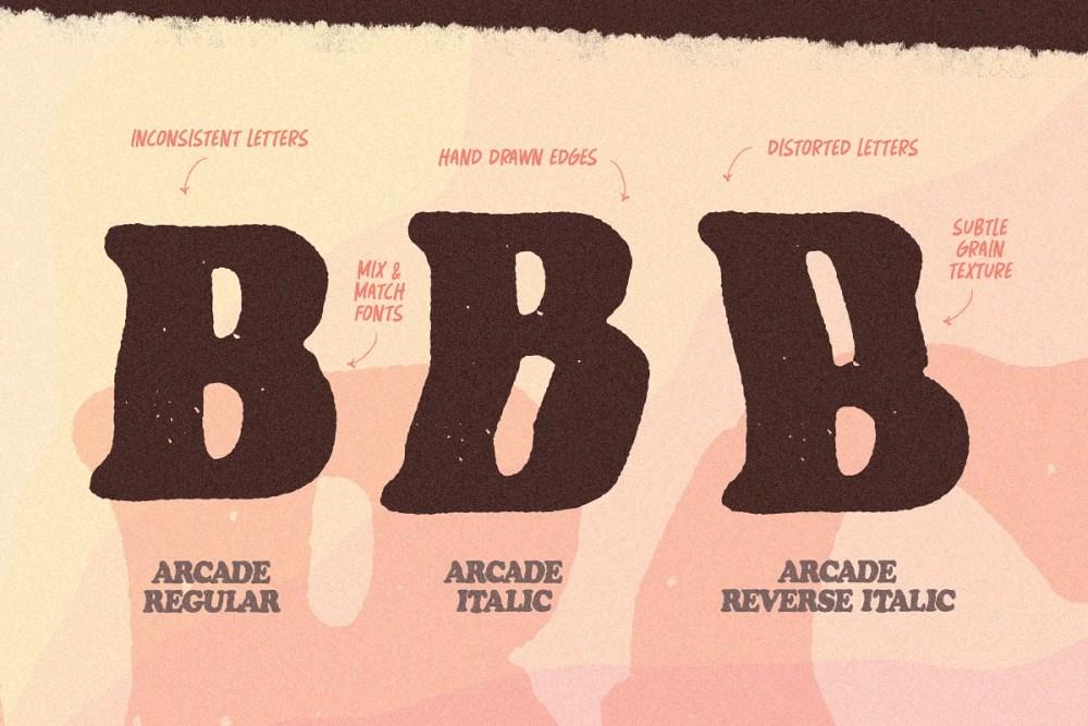 Arcade Font letters