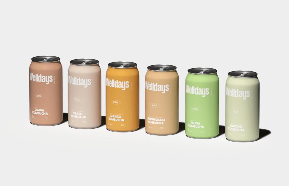 Welldays Kombucha packaging