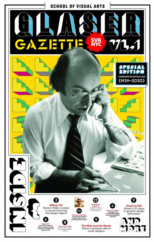 Thumbnail for The Daily Heller: Extra! Extra! Glaser! Gazette!
