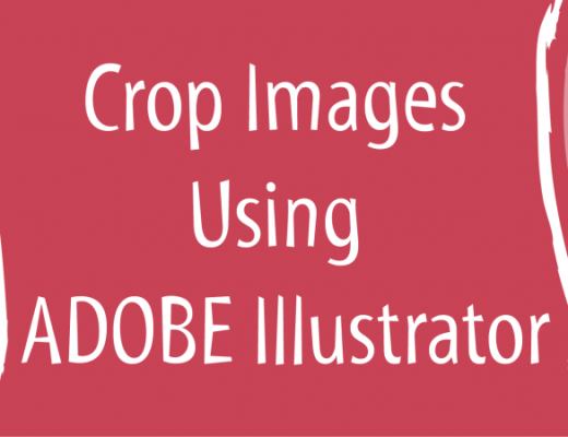 Crop images using Adobe Illustrator