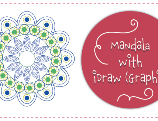 Draw Mandala using iDraw Graphic