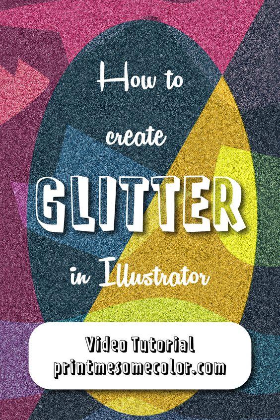 Glitter in illustrator