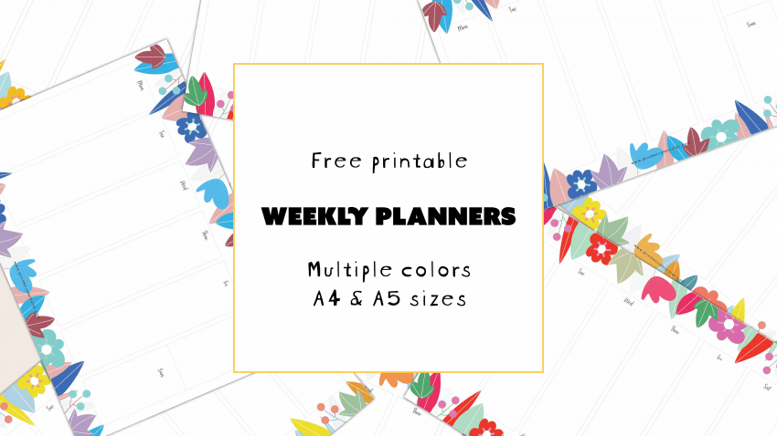 Free download free printable weekly planners
