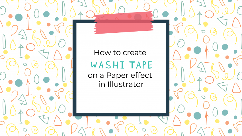 Washi Tape Illustrator tutorial