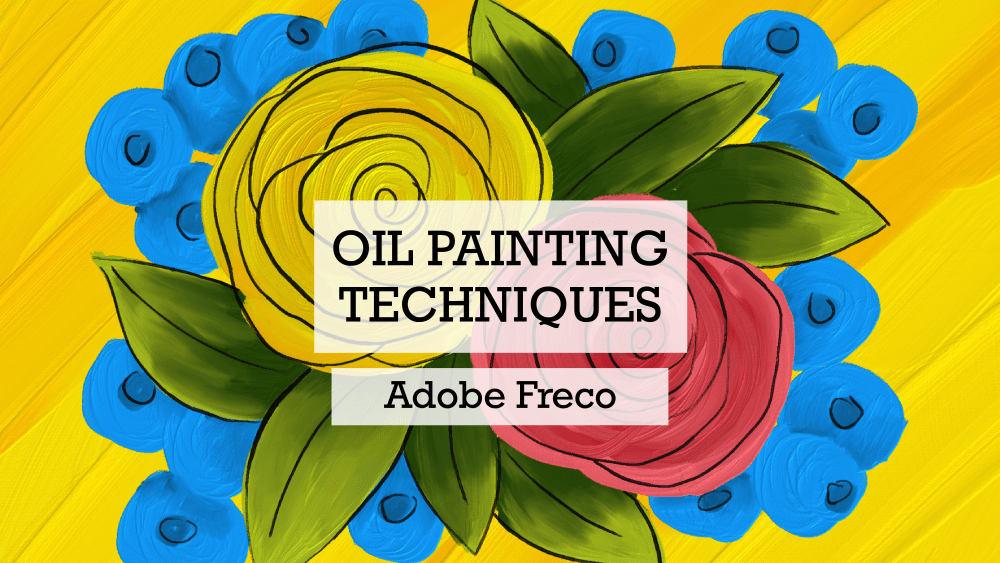 Oil paint brushes in Adobe Fresco