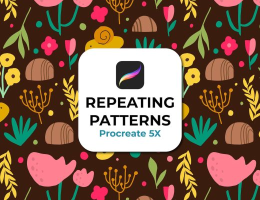 how to create a repeating pattern with procreate 5x