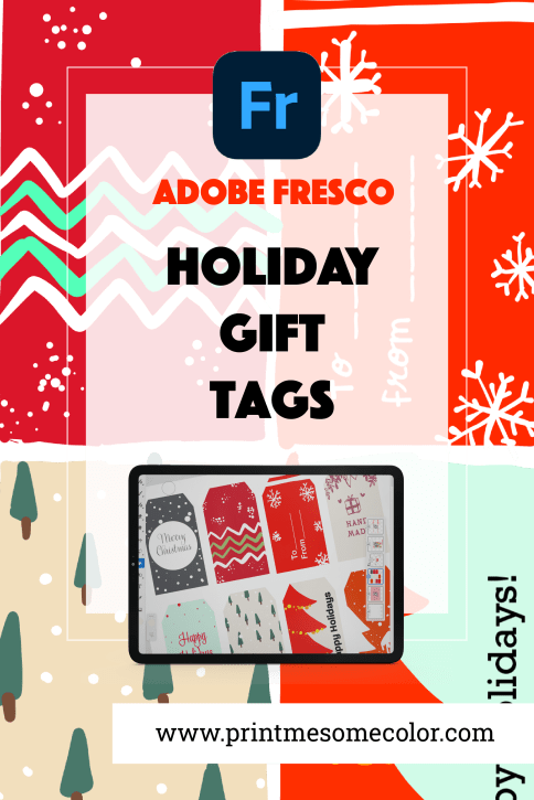 Holiday Gift Tags with Adobe Fresco, Adobe fresco tutorial