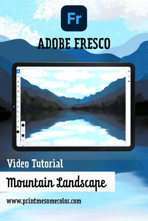 Easy Mountain Landscape - Adobe Fresco Tutorial