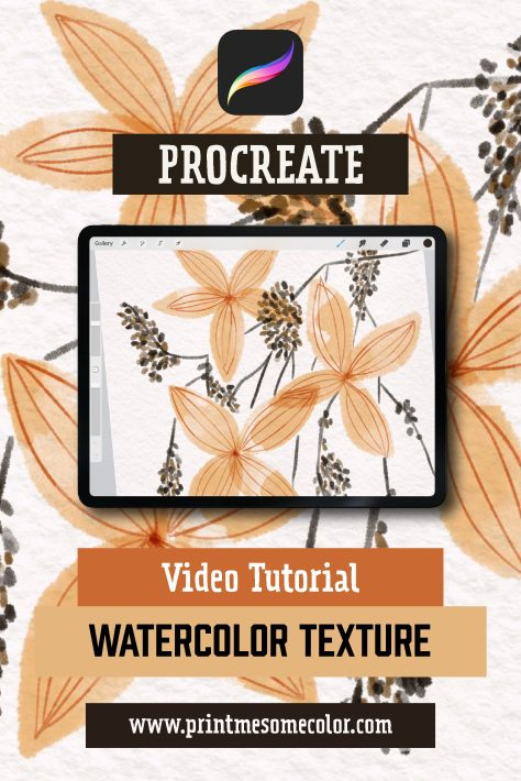 How to add Watercolor texture in Procreate, procreate tutorial