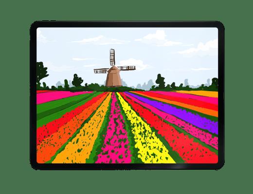 Adobe Fresco Tutorial | Tulip Fields