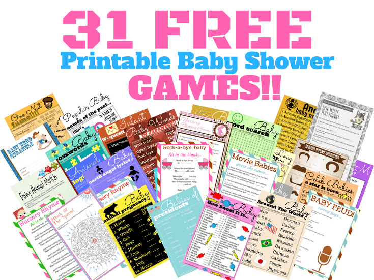 31 Free Printable Baby Shower Games Your Guests Will