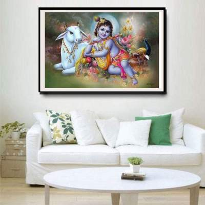 Baby Krishna Canvas Wall Art