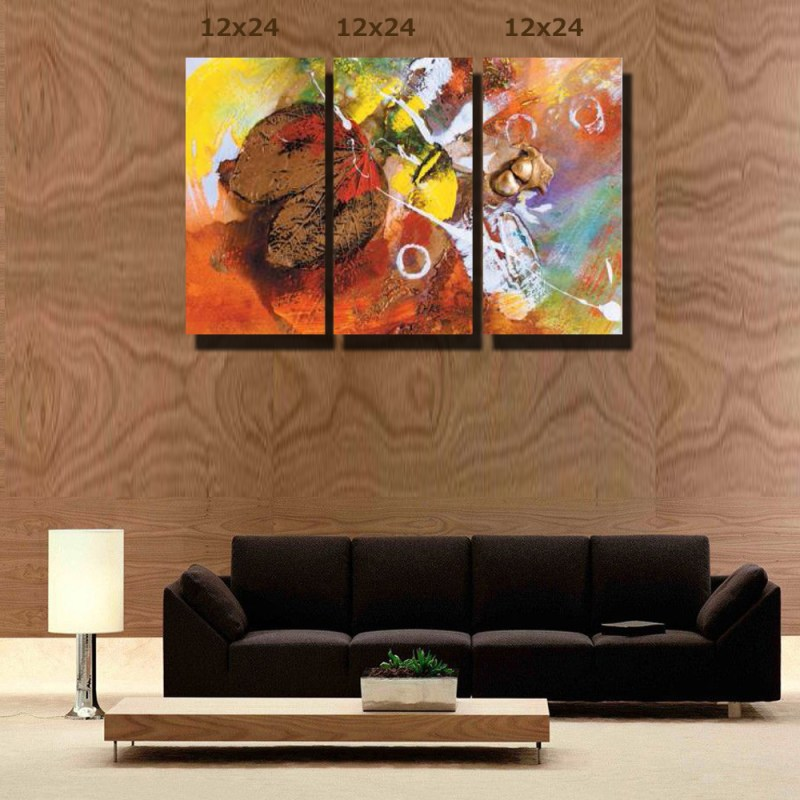 Leaf Abstract Canvas Wall Art