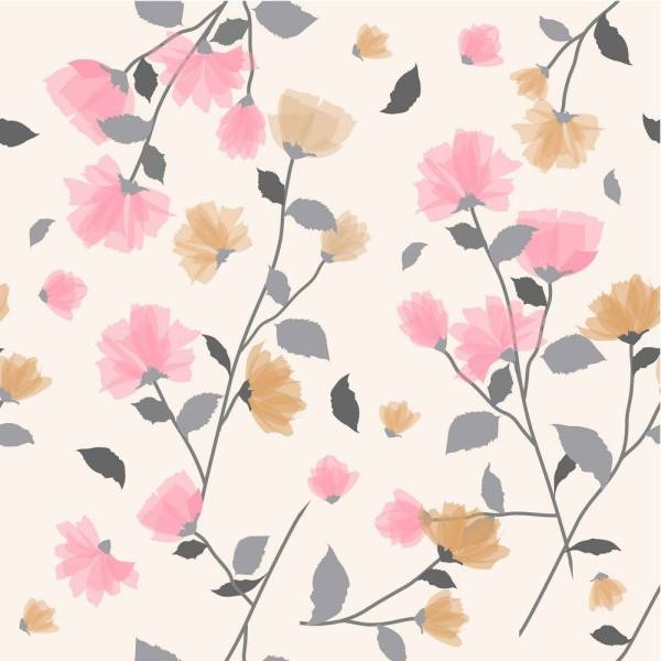 Pink Floral Window Blinds