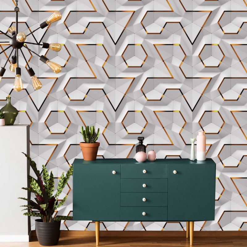 Geometric Wallpaper Removable Peel And Stick 2
