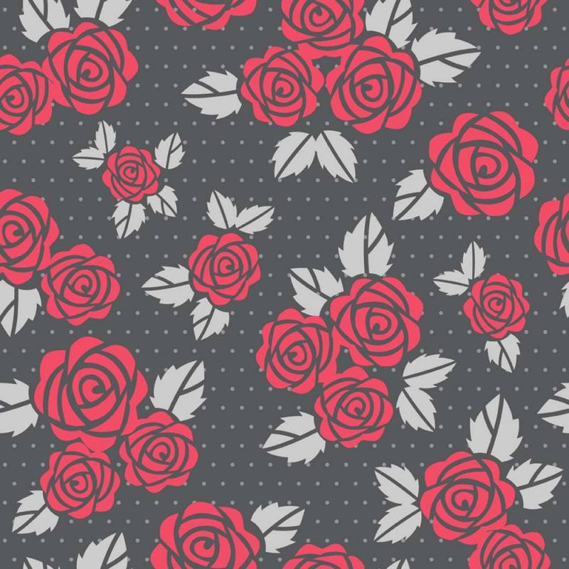 Buy Red Roses With Gray Leaves Wallpaper 3