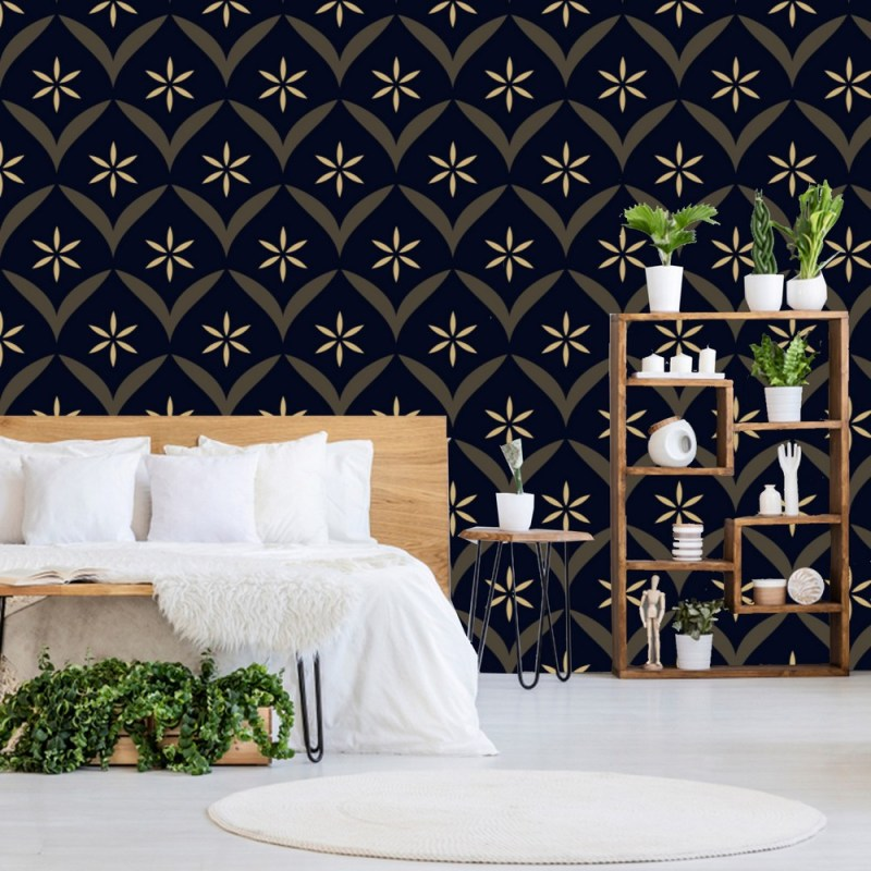 Intricate Floral Peel And Stick Wallpaper 1