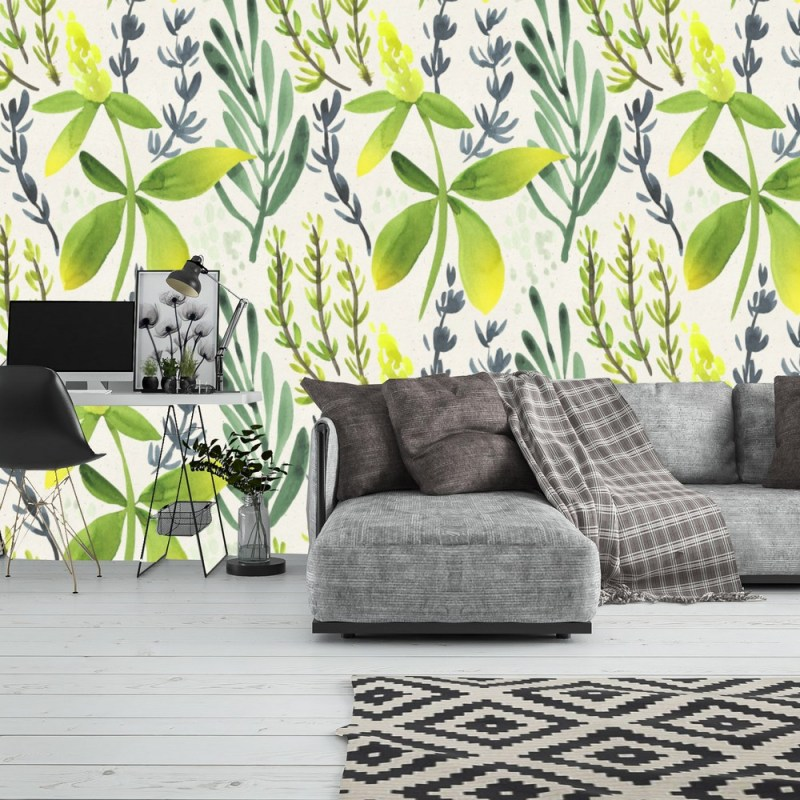 Painted Floral Peel And Stick Wallpaper 1