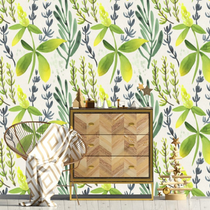 Painted Floral Peel And Stick Wallpaper 2