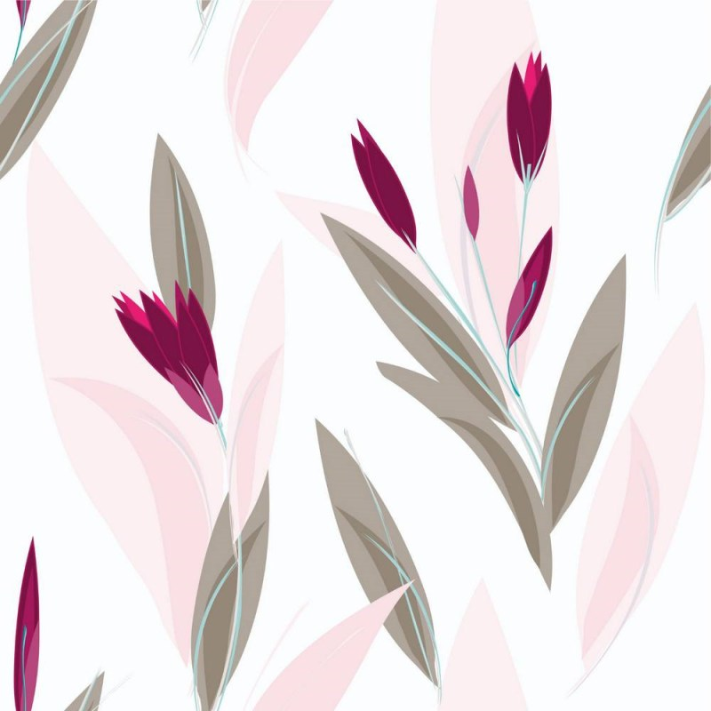 Pink Buds And Grey Leaves Wallpaper 2