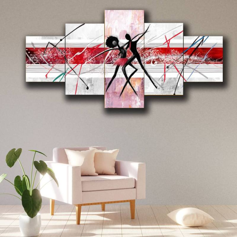 Buy Couple dancing together canvas wall decor, 5 Panel Art 1