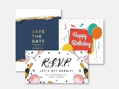 carte d invitation personnalisable
