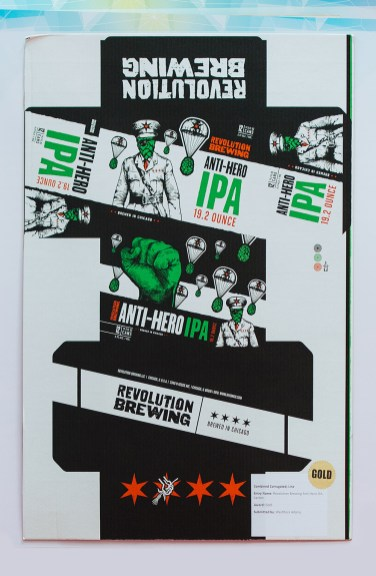 GOLD AWARD: Revolution Brewing Anti-Hero IPA carton, WestRock Adams