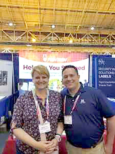 Thanks to Ed Nusslein of McClean Packaging and Brigitte Bisson of Just Born Quality Confections for stopping by our booth!